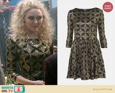 The Carrie Diaries Fashion: Topshop glitter print skater dress worn by AnnaSophia Robb from nordstom