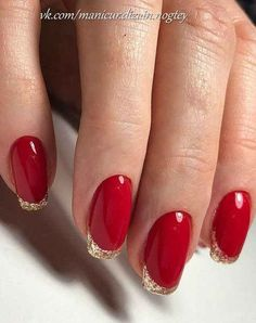 In order to provide some inspirations for your winter nail art designs, we have specially collected 72 winter nails red colors for your short nail designs. Red Nail Designs, Best Nail Art Designs, Short Nail Designs, Short Red Nails, Short Nails Art, Winter Nail Art, Winter Nails, Natural Fake Nails, Soft Nails
