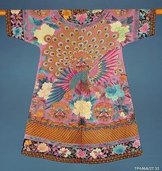 Woman's Birthday or Informal Ceremonial Robe Qing dynasty (1644–1911) late 19th-early 20th centur