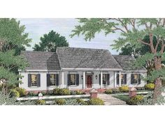 Colonial House Plan with 1670 Square Feet and 3 Bedrooms from Dream Home Source | House Plan Code DHSW46939