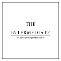 Our 4-week intermediate workout plan for women focuses on boosting your fitness level by improving your cardiovascular endurance and increasing your strength, flexibility and muscle power. http://www.spotebi.com/workout-plans/4-week-intermediate-women/