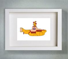 Yellow Submarine   Typography Art Print  8 x by LoveSignBoutique, $18.00