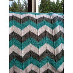 Chevron Baby Blanket and Chevron Throw Knitting pattern by Karin Michel | Knitting Patterns | LoveKnitting