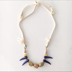 Beaded layering necklace Beautiful handmade statement necklace with semi precious stones Jewelry Necklaces