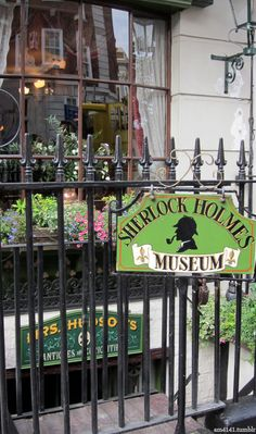The Sherlock Holmes Museum, Baker Street, Camden Town, London. This is a museum is a must for all serious Sherlock Holmes fans. If I ever go to England, this is a MUST visit! That and Kings Cross station. London Calling, John Watson, Oh The Places You'll Go, Places To Travel, Wanderlust, England And Scotland, Baker Street, London Travel, British Isles