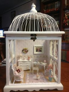 If anyone knows the original link, please comment! Dollhouse lantern, sweet room.