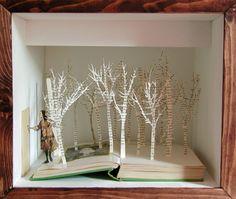 The Secret Garden paper art Secret Garden Book, Trash Art, Book Sculpture, Paper Sculptures, Photography Exhibition, Altered Books, Word Art, Fun Projects, Photo Book