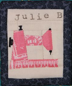 Bed Sheet in the Kitchen: Paper Piecing a Name Tag
