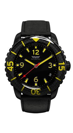 Skywatch Carbon Fiber and Yellow Available at Worthmore Jewelers in Atlanta!!! #sky #skywatch #divewatch #dive #divewatchesfordivebars #divebars #diver #watch #watches #atlanta #decatur #jewelry #georgia #ga #georgiajewelry #local #shoplocal