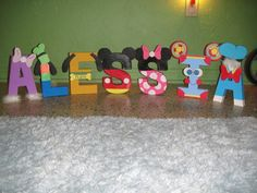 diy mickey mouse clubhouse character letters - Google Search