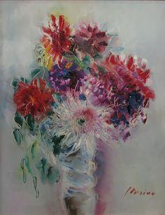 Vase with Flowers - Margareta Sterian Flower Vases, Flower Art, Art Flowers, Art Database, Photography Classes, True Art, Fashion Makeover, Floral, Artwork