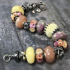Amber and Gemstone Trollbeads bracelet!