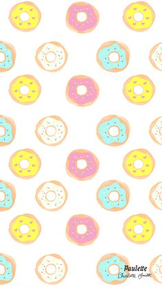 Rainbow Donut Pattern iPhone Wallpaper @PanPins
