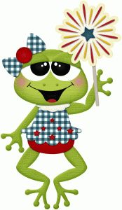 Silhouette Design Store - View Design #84015: 4th of july girl frog w sparkler