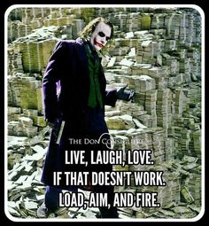 What the fuck is this? If you can't be happy starting shooting? Dark Quotes, Wisdom Quotes, True Quotes, Motivational Quotes, Funny Quotes, Inspirational Quotes, Heath Ledger Joker Quotes, Best Joker Quotes, Badass Quotes