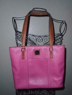 DOONEY & BOURKE Dark Pink Pebble Grain Lexington Purse Handbag Shoulder Bag #DooneyBourke #ShoulderBag