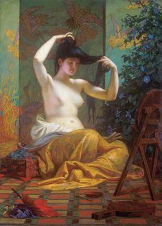 Japán nő, 1871: 121 legszebb magyar festmény () 5.tétel SZÉKELY BERTALAN