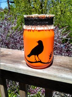Spooky Halloween Bird Jar! by ToastyBarkerBoutique on Etsy