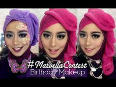 #MarvellaContest - Birthday Makeup 2 in 1 - YouTube