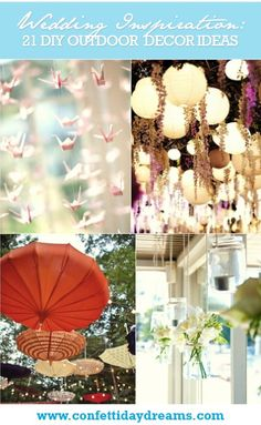 21 DIY Outdoor & Hanging Decor Ideas | Confetti Daydreams - Refer to our amazing collection of 21 DIY Outdoor & Hanging Decor Ideas ♥ #DIY #OutdoorDecor #HangingDecor