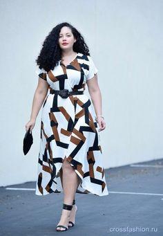 Блогер plus size Танеша Авашти: образы из блога Girl With Curves зима-весна 2017