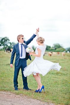 Blue Wedding Shoes  #retro wedding ... Wedding ideas for brides, grooms, parents  planners ... https://itunes.apple.com/us/app/the-gold-wedding-planner/id498112599?ls=1=8 … plus how to organise an entire wedding, without overspending ♥ The Gold Wedding Planner iPhone App ♥