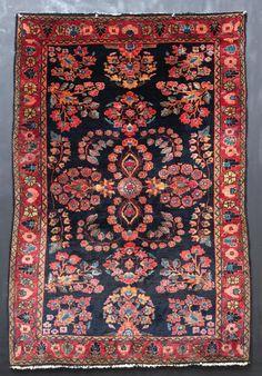 Antique Persian Mohajeran Sarouk Rug 3'5 x 5'0 by Antieksman