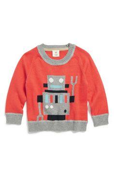 Too cute! Robot sweater.