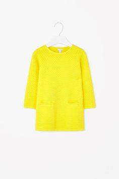 COS for kids. Raised-knit dress- little girl.