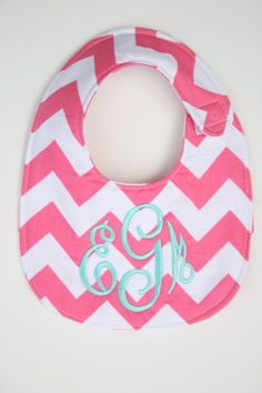 Personalized bib Monogrammed bib Baby by SouthernStyleStitche, $15.00