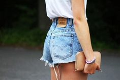 80s Vintage Levis Shorts High Waisted Cutoffs Denim Jeans Cheeky Style - Cuff N Roll