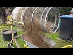 cement mixer to compost, dirt, soil Sifter - self made - Experiment - gartenbedarf Garden Compost, Garden Soil, Compost Soil, Herb Garden, Build A Greenhouse, Greenhouse Ideas, Porch Greenhouse, Homemade Greenhouse, Large Greenhouse