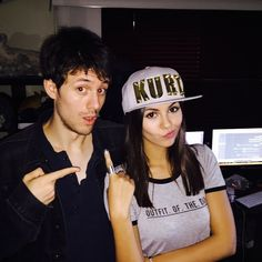 Victoria Justice, ... ... ... ... ...  @victoriajustice ... ... ... ... ... ...  3 hours ago . June 5th. 2015 ... ...    Up to no good with this dude    @kurtschneider