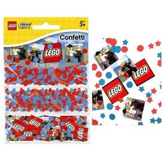 Lego City Party Confetti - great party accent to add to your lego city tables