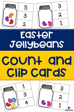 Get this FREE Easter Spring Jellybean Count and Clip Cards. Great printables for toddler, preschooler and Kindergarten. Easy prep and perfect for independent use. Fun Activities For Preschoolers, Easter Activities For Kids, Preschool Themes, Preschool Math, Kindergarten Lesson Plans, Kindergarten Activities, Math Subtraction Worksheets, Teacher Freebies, Math Work