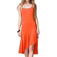 Klaiyi Women Summer Elastic Spaghetti Straps Sundress Sleeveless Slip Dress -- Be sure to check out this awesome product. (This is an affiliate link and I receive a commission for the sales)
