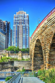 Below the Stone Arch Bridge in Minneapolis Minneapolis St Paul, Minneapolis Minnesota, North America Destinations, Living In Denver, Minnesota Home, Lake Superior Agates, Hdr Photography, Twin Cities, Wonderful Places