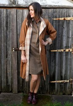 Vintage 70's Carmel Lightweight Check Trench by AdasAtticVintage, £49.99