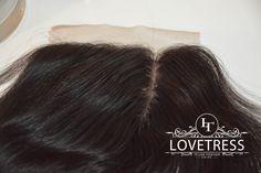 "Silk Base Closure, 18"" , Free Parting, Straight, Virgin Brazilian Human Hair by Lovetresshair on Etsy"