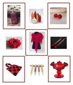 """""""Red gifts"""" by keepsakedesignbycmm ❤ liked on Polyvore featuring Fenton and accessories"""