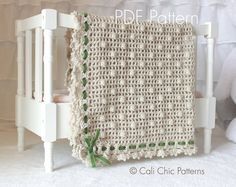 Crochet Baby Blanket PATTERN 12 Crochet di CaliChicPatterns