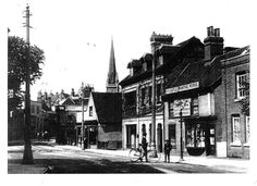 High street believe it or not a long time ago pictured just before the war memorial