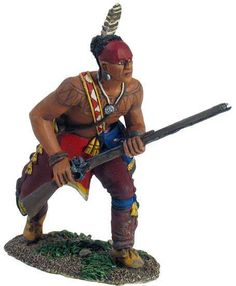 W. Britain - 16001 - Eastern Woodland Indian Advancing Crouching with Musket No.1 - Toy Soldier Brigade