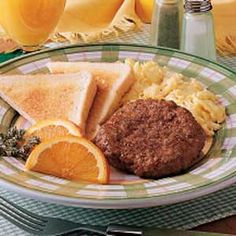 Breakfast Patties Recipe -This homemade sausage is terrific because it's so lean, holds together well and shrinks very little when cooked. It's incredibly easy to mix up a batch and make any breakfast special.  -Jeannine Stallings, East Helena, Montana