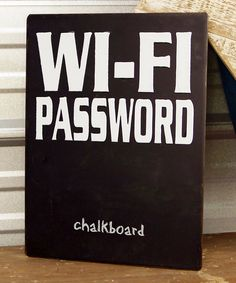 Look at this Metal 'Wi-Fi Password' Wall Sign on #zulily today!