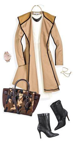 ¡Este abrigo es súper versátil! Combínalo con prendas lisas y un toque de print de camuflaje para realzar el look.