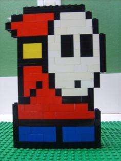 Lego Mario, Lego Craft, Shy Guy, Lego For Kids, Lego Design, Lego Projects, Lego Moc, Lego Ideas, Mario Bros
