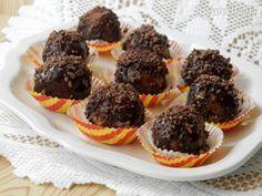 Piškotové kuličky v čokoládě - Recept