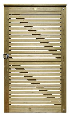 Venetian garden gates offer a vertical slatted design, allowing light to filter into your garden. Ideal for areas where privacy is not a concern but you want a contemporary garden gate; Wooden Garden Gate, Metal Garden Gates, Wooden Gates, Fence Builders, Timber Slats, Stainless Steel Fittings, Antique Perfume Bottles, Contemporary Garden, Outdoor Garden Furniture