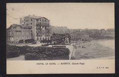 France 1927 Hotel Le Sahel at Biarritz Beach Postcard to Paris | eBay
